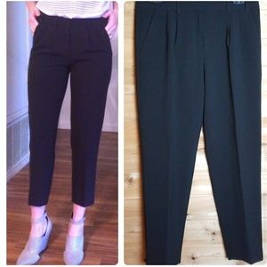 Pleated Front Ankle Pants